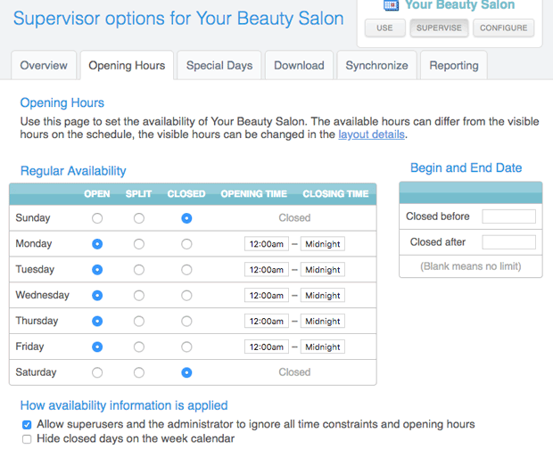 Add staff members to your salon online booking schedule