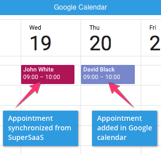 Show your SuperSaaS bookings in an external calendar