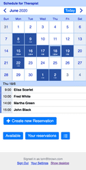 Appointment scheduling on a mobile