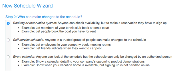 Control access of your online booking calendar