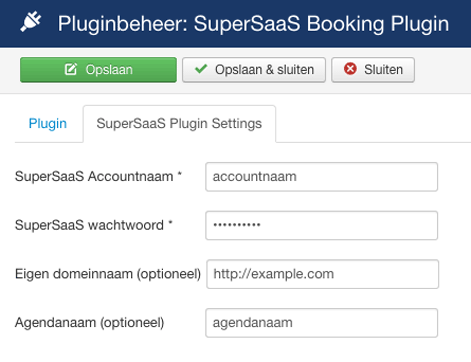 Joomla! SuperSaaS Plugin
