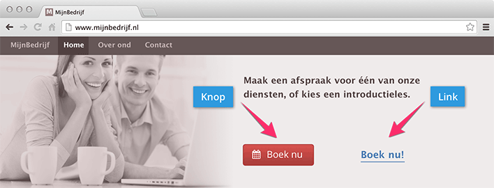 Button of link naar de agenda