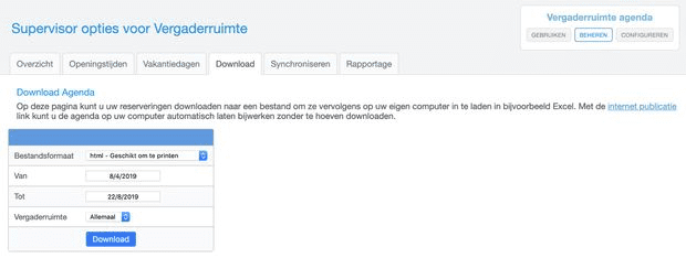 download alle reserveringen